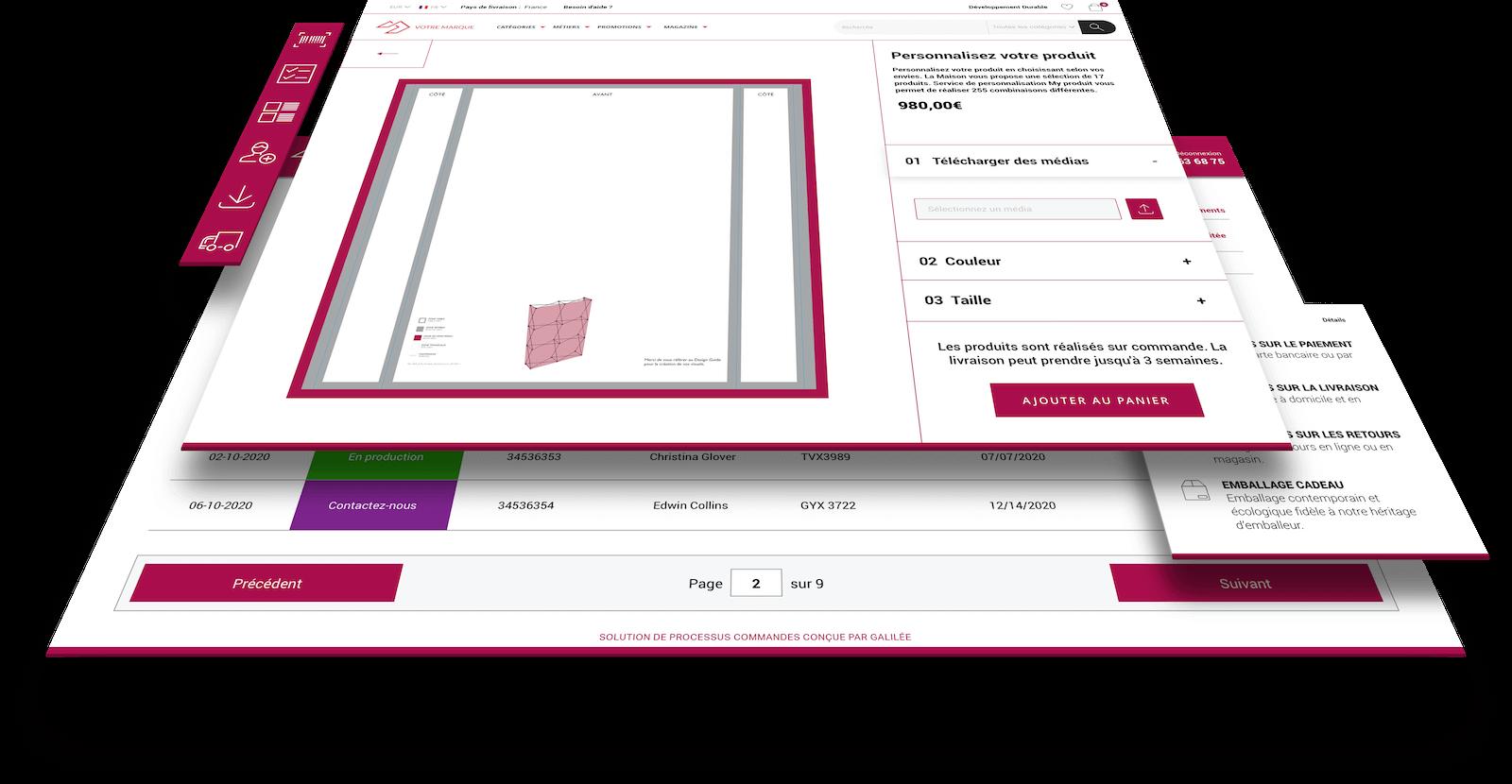 Galilée accompagne les entreprises dans la fabrication de produits personnalisés grâce au web to print.